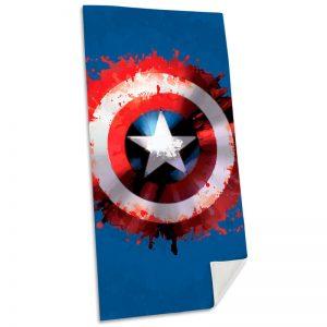 Captain America Serviette de plage en coton