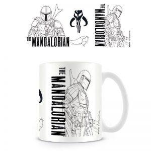 Mug Mandalorian Star Wars Line Art