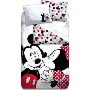 Parure de lit Minnie et Mickey 100% coton 240 X 220 cm