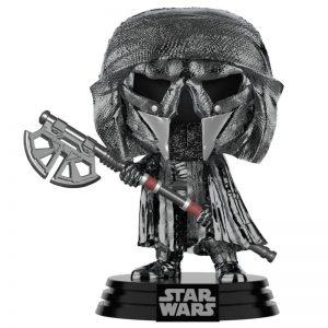 Figurine POP Star Wars Rise of Skywalker Knight of Ren Axe Chrome hématite