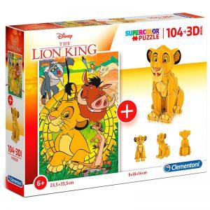 Puzzle 104 Pièces + 3d Model - Lion King