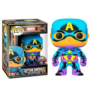 Figurine POP Marvel Black Light Captain America